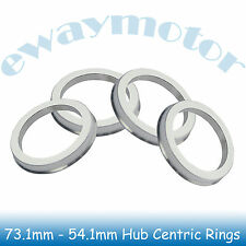 4PC Alloy Aluminum Wheel Spigot Spacers Hub Centric Rings 73.1mm OD to 54.1mm ID