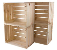 5x Neue stabile helle Holzkiste 50x40x30cm / stabil und stapelbar