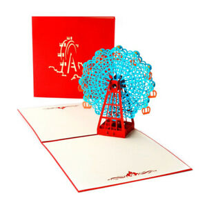 Ferris Wheel Pop Up Card 3D Card Popup Greeting Cards Birthday Anniversary