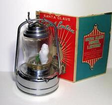 VTG 1960'S XMAS SANTA LANTERN - MILK GLASS SANTA BULB, 3 LIGHTS, PIECE ORIG BOX