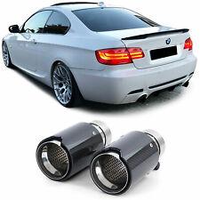 Auspuff Duplex Sport Endrohre Carbon Schwarz Universal für diverse BMW Modelle