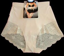 NEW LADIES SHAPING HIGH WAISTED LOW LEG FIRM CONTROL PANTIES KNICKERS M&S ALMOND