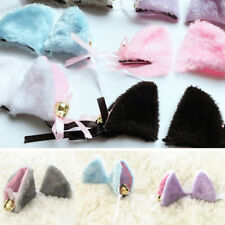 1 Pair Halloween Long Fur Cat Ears Animal Costume Hair Clip Cosplay Party 6Color