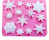 Silicone Mold 3D Christmas Decorations Snowflake Lace DIY Cooking Cake Tools