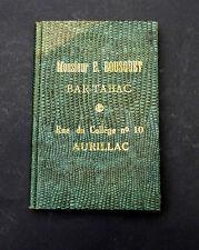 Miroir publicitaire. Monsieur E. Bousquet. Bar-Tabac. Aurillac. ORIGINAL