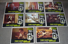 THEY CAME FROM WITHIN/SHIVERS 11x14's DAVID CRONENBERG original lobby card set