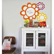Flowers Dry Erase wall stickers 3 big colorful decals includes marker