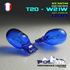 KIT 2 AMPOULE XENON T20 W21W  BLANC 360° FEUX DE JOUR ANTI ERREUR ODB VEILLEUSE