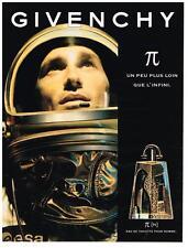 PUBLICITE  ADVERTISING   1998   GIVENCHY   senteurs pour les hommes de l'espace