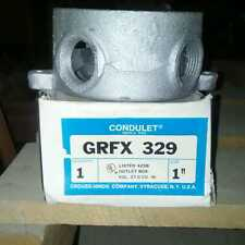 LOT OF 10 CROUSE HINDS GRFX329 OUTLET BOX.