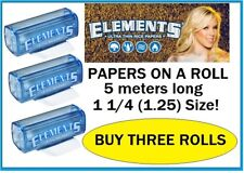 NEW! 3 ROLLS 1.25 ELEMENTS Cigarette Papers On a ROLL