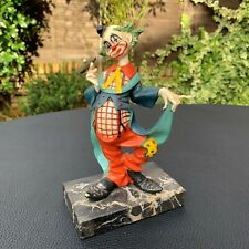 More details for vintage fontanini depose 941 genuine carrara clown marble base - made in italy