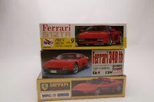 Lot of 3 Ferrari 1/24 Kits: 512TR, 348 tb, and 348 ts. AS IS