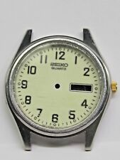 Vintage Gts Seiko Quartz Day/Date Stainless Steel Watch Case. # 7N43-9048 A4