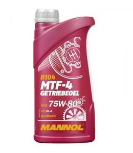 MANNOL 1L Synthetic Gear Oil  75w-80 MTF-4 GL4
