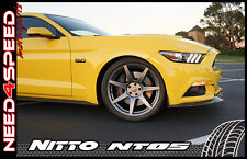 """19"""" Project 6GR Graphite Wheels & Tires Nitto Invo NT05 for Mustang S550 S197"""