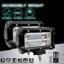 2Pcs 5 inch 72W LED Work Light Bar Spotlamp Beam 4WD Offroad Driving Fog Lamp