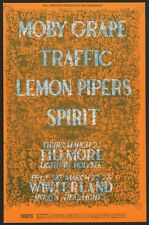 Moby Grape Traffic Spirit Fillmore Auditorium Vintage Original  Post Card 1968