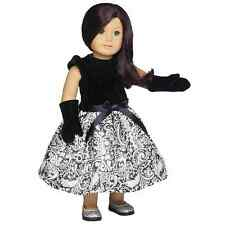 """Little Black Dress 18"""" Doll Outfit Fits American Girl! Dress W/  Gloves"""