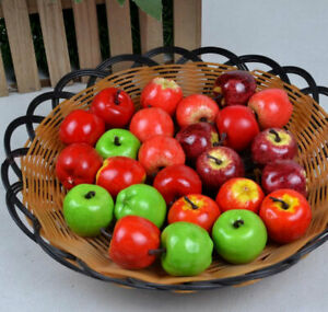 20x Artificial Fake Plastic Mini Fruit Vegetable Table Home Art Decor Bowl Craft