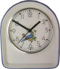 033752F Keramik Küchenuhr Artline Blau-gelb Vogel Blaurand handbemalt Funkuhr