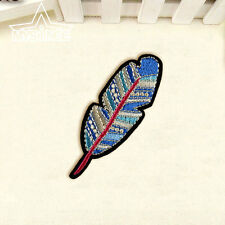 Feather Embroidered Sew On Iron On Patch Badge Clothes Bags Fabric Applique Gift