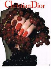 PUBLICITE ADVERTISING 064  1991  DIOR   cosmétiques beauté des ongles