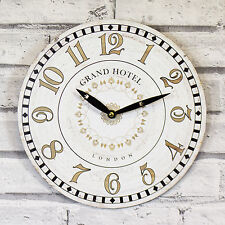 29cm Wooden Wall Clock Large Kitchen Office Home Shabby Chic Rustic Decor Quartz