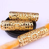 10x Dreadlocks Hair Ring Metal Gold Braid Cuff Clips Bead Wrap Hair Jewellery