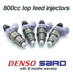 4 800cc FUEL INJECTORS for DENSO MITSUBISHI EVO 1 2 3 4 5 6 7 8 9 SARD 63565