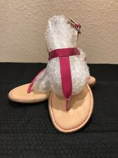 Boc Born Concept Pink Patent Leather  Thongs  Sandals Size 9