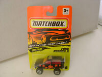 1994 MATCHBOX SUPERFAST MB 39 BLACK FORD BRONCO II 4X4 NEW ON CARD