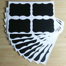 72 Blackboard Chalkboard Chalk Board Labels Stickers Wedding Kitchen Jars