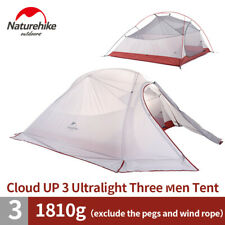 Naturehike Silicone Double Layers Rainproof Tent Camping Gear 3-4 Persons
