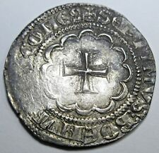 Double Struck Crusader 1275-87 Tripoli Syria 1/2 Gros Cross Coin Bohemond VII