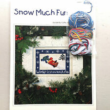 Cross Stitch Chart Snow Much Fun Christmas with Thread Kit by Victoria Sampler