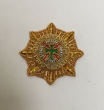 Irish Guards Officers Embroidered Rank Star, Badge, Army, Military