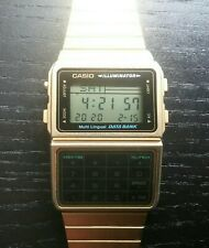 Free Worldwide Shipping Vintage Used Casio Gold Color DBC-611G Calculator Watch
