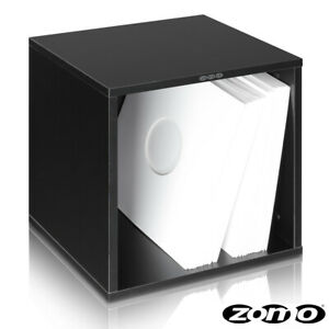 Zomo vs-Box 100 Black Record Box Lp-Regal for Ca 100 Vinyls MDF Wood 6 KG