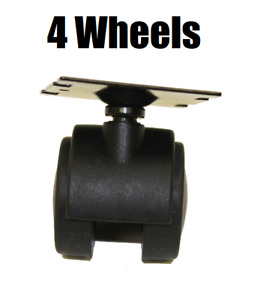 (4) Genuine Rainbow Vacuum D4 D4C SE E E2 Series Castor Wheel for Dolly