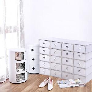 20 scatola di immagazzinaggio impilabile scatola da scarpe cassetto universal