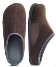 Brookstone Men's Slippers Brown Fabric Suede : 5 benefits in 1
