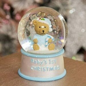 Baby's First Christmas Water ball for Kids Room Decoration Christmas Globe blue