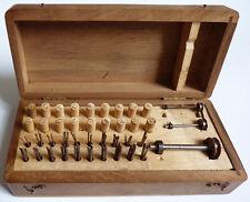 Boite de forets outils pour horlogerie et bijouterie  19e siècle