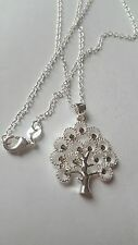 SILVER PLATED CUTE WOMEN SHINY CRYSTAL CZ NECKLACE CLASSIC STYLE