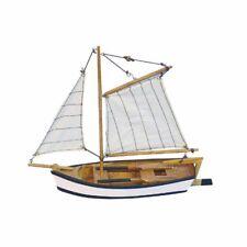 Fischerschiff- Schiffsmodell - Segelboot - Holzrumpf und Leinensegel 25 cm