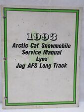 Vintage 1993 Arctic Cat Snowmobile Service Manual Lynx Jag Afs Long Track