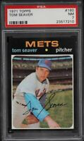 1971 Topps #160 Tom Seaver - HOF - Mets - PSA 7 - NM - 23517210 - (SCA)