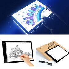 LED Artcraft Tracing Light Pad Box Artist Tattoo Drawing Sketch Board Display A4