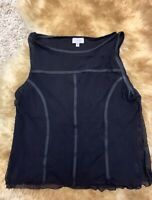 Dediee black mesh Camisole Top sleepwear nightwear size it48 us12 uk16